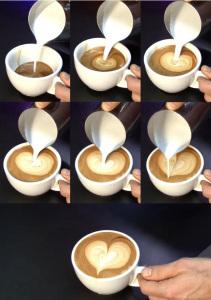 hacer un corazon con la crema