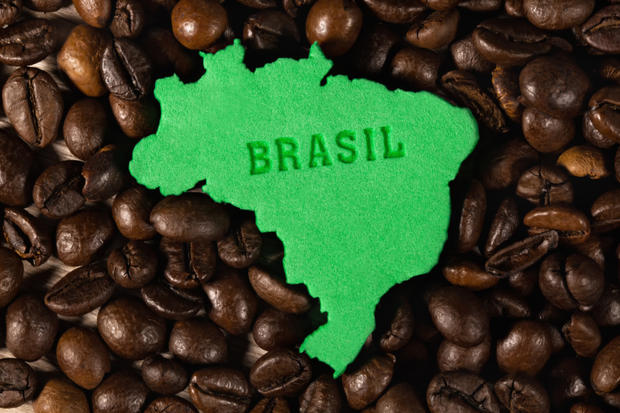 Figure Of Brazilan States And Coffee Beans